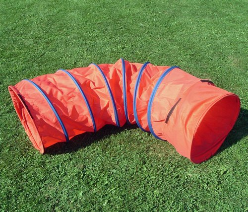 Affordable Agility 6 ft Practice Fabric Tunnel w/19 Diameter and Carry Bag for Small Dogs