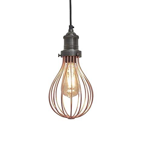 Orlando Vintage - Lámpara de techo colgante para jaula de ...