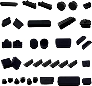 LAMPVPATH 36 PCS Anti-dust Plugs Computer Port Dust Plugs, 19 Types of Computer Laptop Port Dust Covers Stoppers for Computer PC Laptop(36 PCS in 19 Types)-DO NOT Fit MacBook