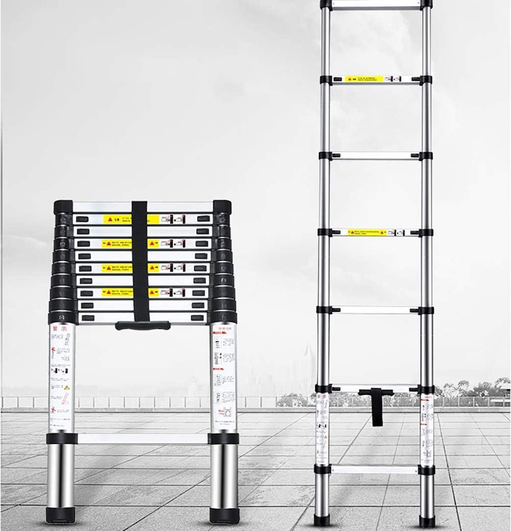 ALYR Aluminio Escalera Telescópica, Telescópica Escalera Extensible Escaleras de Mano para Cubiertas de Negocios, Inspector de casa y tareas domésticas,4.8m: Amazon.es: Hogar