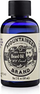 product image for Beard Oil by Mountaineer Brand (2oz) | Premium 100% Natural Beard Conditioner (WV Coal)