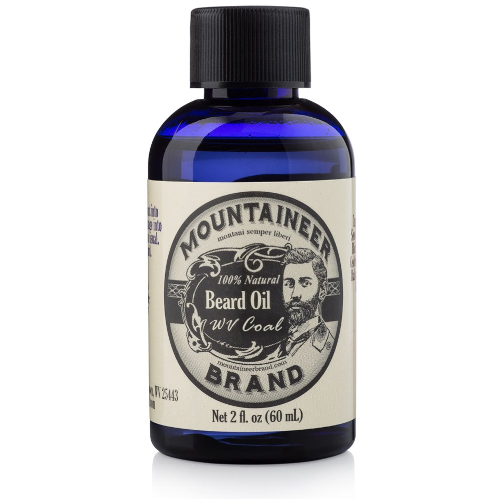 Mountaineer Brand Natural Beard Oil-WV Coal-2 Oz TWICE THE SIZE OF MOST by Mountaineer Brand
