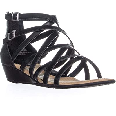 b.o.c. Womens Mimi Faux Leather Strappy Gladiator Sandals | Platforms & Wedges
