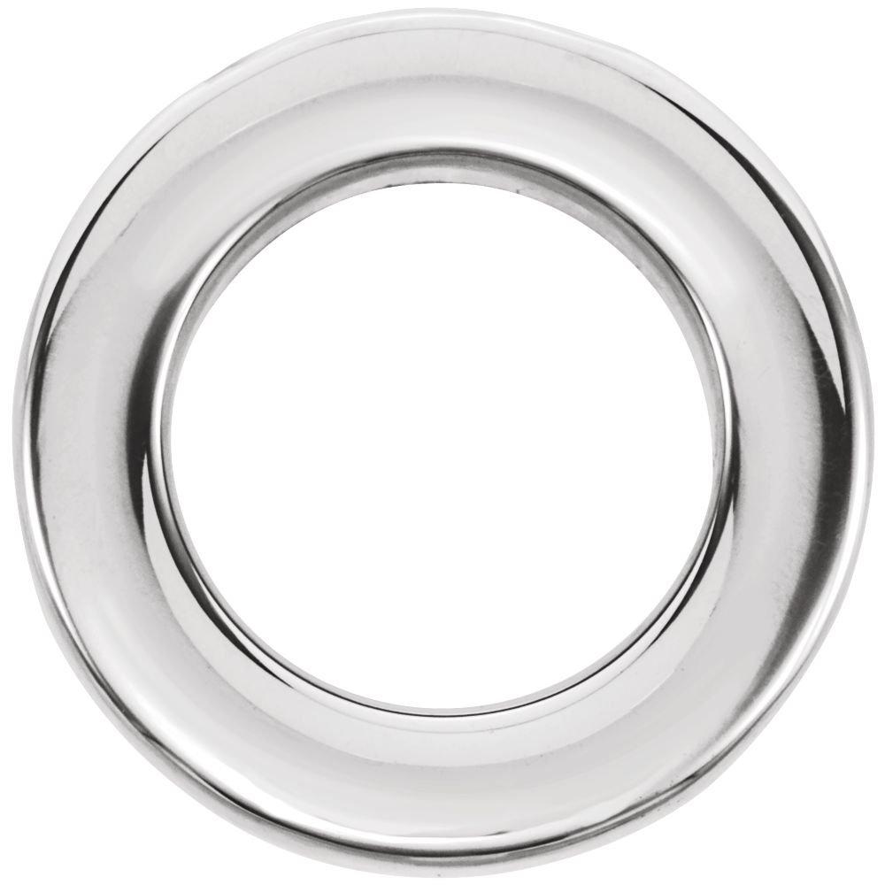 FB Jewels 14k White Gold 13mm Circle Chain Slide