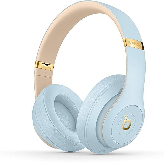 Beats Studio3 Wireless con cancelación de ruido - Auriculares supraaurales - Chip Apple W1, Bluetooth de Clase 1, cancelación activa del ruido, 22 horas de sonido ininterrumpido - Azul Cristal: Apple: Amazon.es