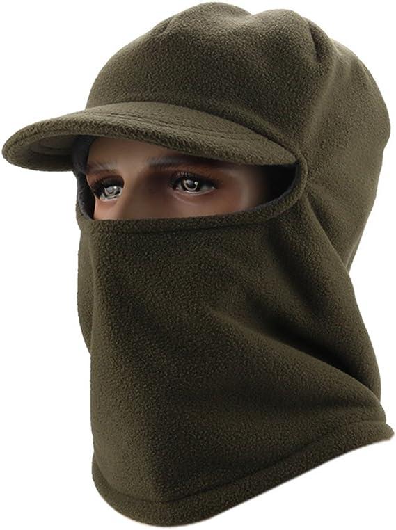 Men/'s Windproof Fleece Balaclava Hat Cycling Snow Ski Neck Face Mask Hood Caps