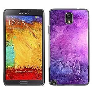 For Samsung Note 3 N9000 - Cool Purple Texture Pattern /Modelo de la piel protectora de la cubierta del caso/ - Super Marley Shop -
