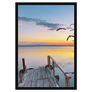 Amazon.com - 26 1/4 x 38 7/8 Black Frame - Wood MDF with 1 1/4 inch ...