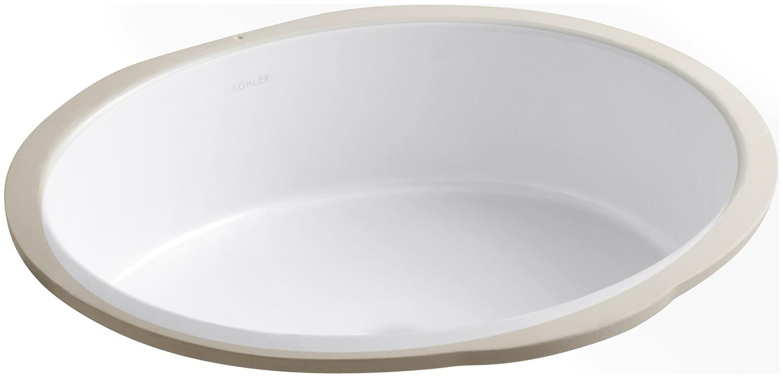 Etonnant KOHLER K 2881 0 Verticyl Oval Undercounter Bathroom Sink, White   Under  Mounted Sinks   Amazon.com