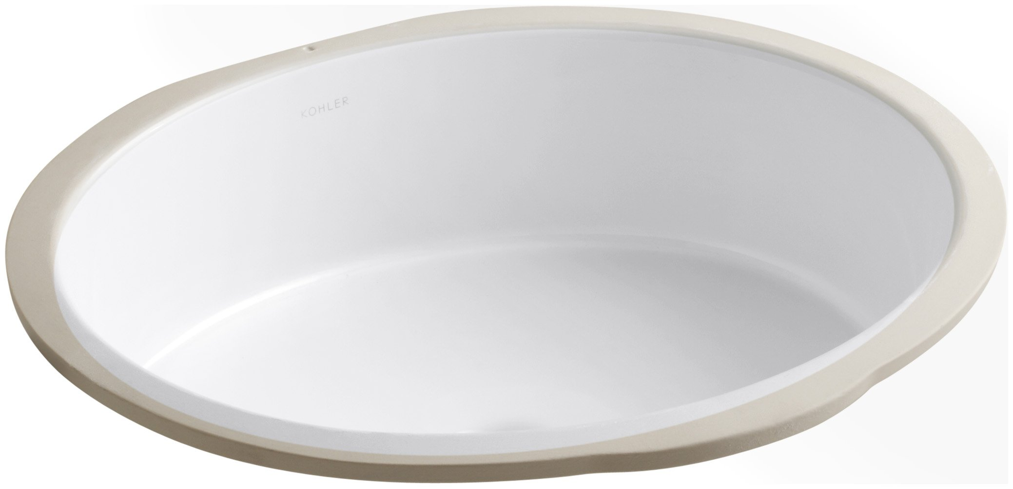 KOHLER K-2881-0 Verticyl Oval Undercounter Bathroom Sink, White