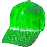 1clienic Luminous LED Baseball Cap 7 Colors Glow Hat Unisex DJ Light Up Rave Fiber Optic LED EDC Hats Rave Concert…