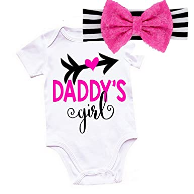 Amazon.com  G G - Cute Baby Girl Take Home Outfits Set With Headband ... e1c11d4f2