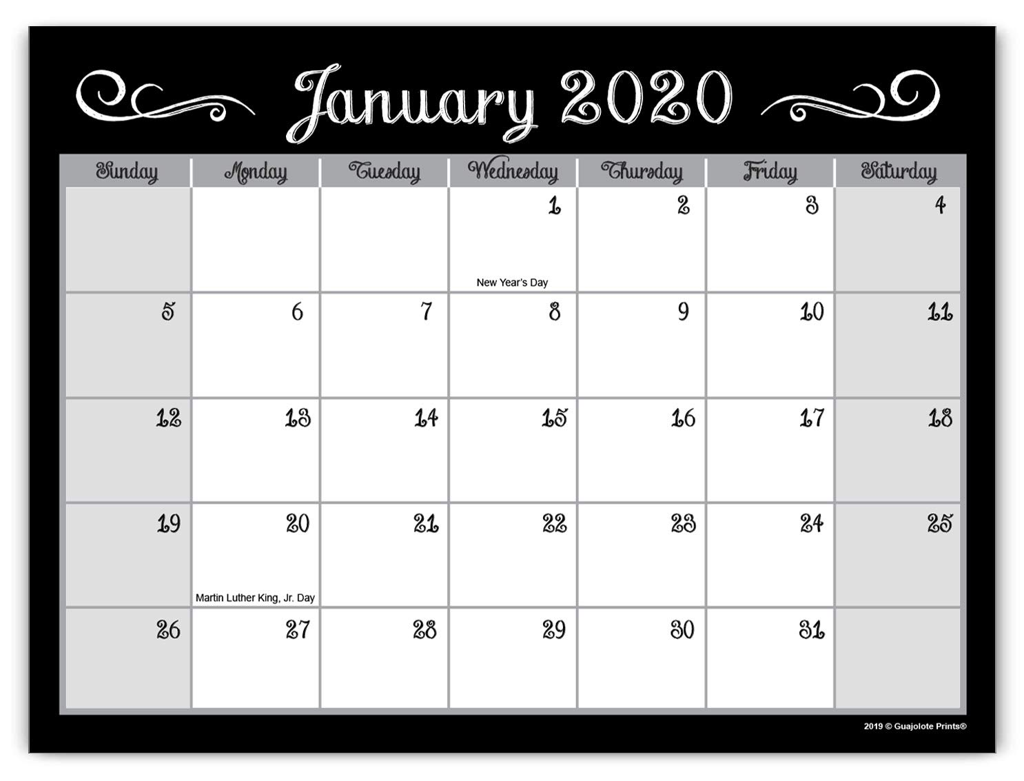 Guajolote Prints 2020-2021 Magnetic Monthly Calendar Pad ...