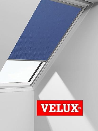 GENUINE VELUX BLACKOUT ROLLER BLIND CODE GGL - 2055 BLUE (Blue, MK12
