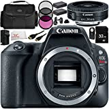 Canon EOS Rebel SL2 DSLR Camera with EF-S 24mm f/2.8 STM Lens 11 Accessory Bundle – Includes 32GB SD Memory Card + 2x Replacement Batteries + MORE - International Version (No Warranty)