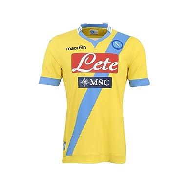 SSC Napoli jersey third 3rd yellow 2013/14 Macron - 06 - L, Yellow