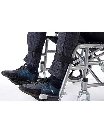 2 correas para reposapiés de silla de ruedas, cinturón de seguridad médico, cinturón de