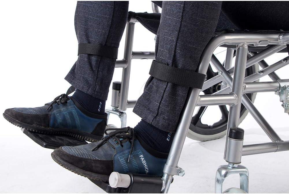 2 correas para reposapiés de silla de ruedas, cinturón de seguridad médico, cinturón de apoyo para los pies para personas mayores, accesorio para discapacitados