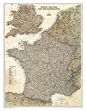 France, Belgium, and The Netherlands Executive [Laminated] (National Geographic Reference Map)