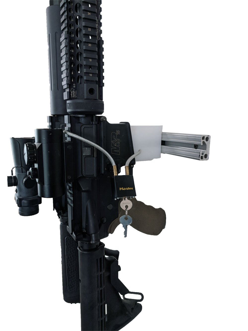 Amazon com : AR15 Gun Rack Double Rifle Wall Mount M16 M4