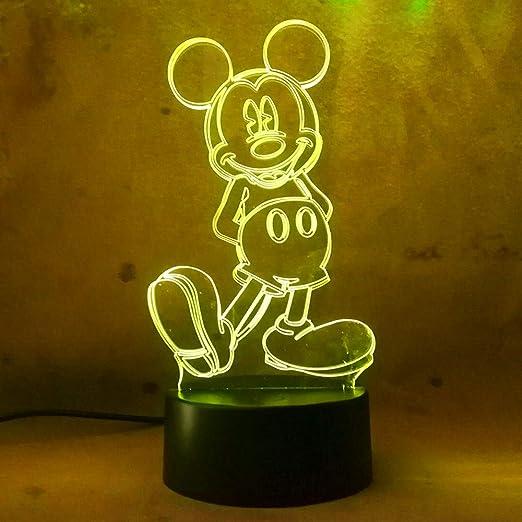 RGB 3D Lovely Unicorn LED Desk Table Lamp Lantern Night Light Kid Cartoon Gifts