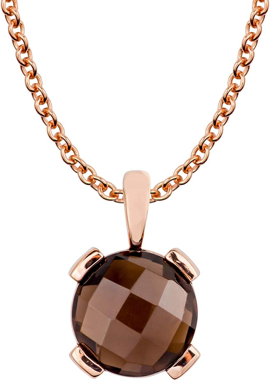 Sterling Silver Jewelry Pendants /& Charms Topaz Smoky Quartz Circle Pendant