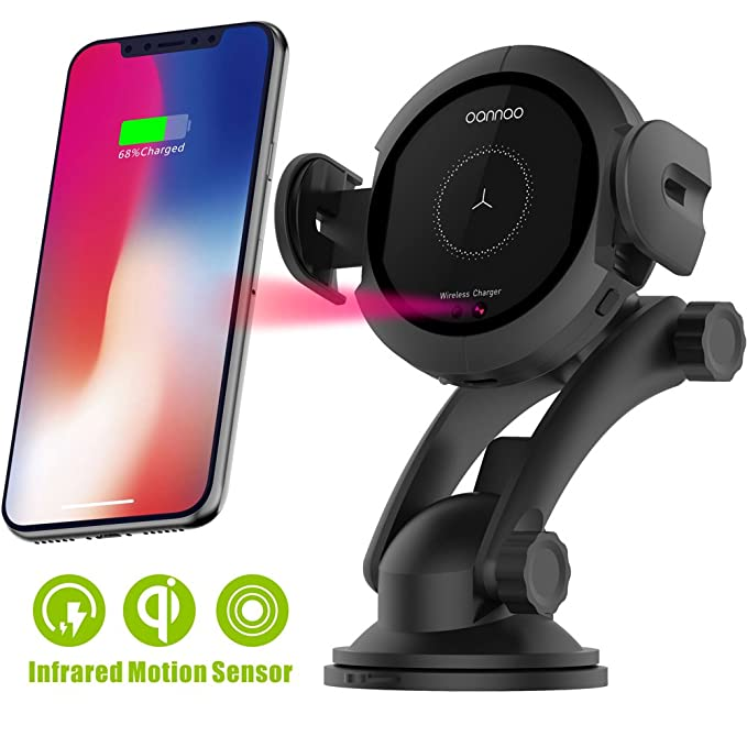 uk availability 85d59 15d00 Wireless Car Charger Mount - Qi Fast Wireless Charging Car Mount,Air Vent  Phone Holder,Charging for iPhone X 8/8 Plus Samsung Galaxy S8/S9.Infrared  ...