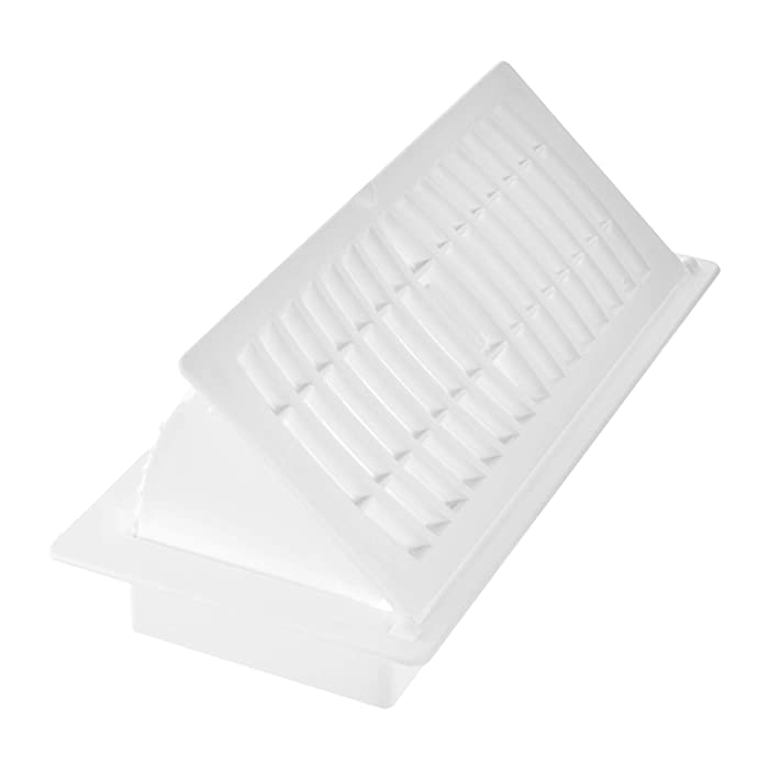 "Imperial RG3052 Floor Register 4"" x 10"" White"