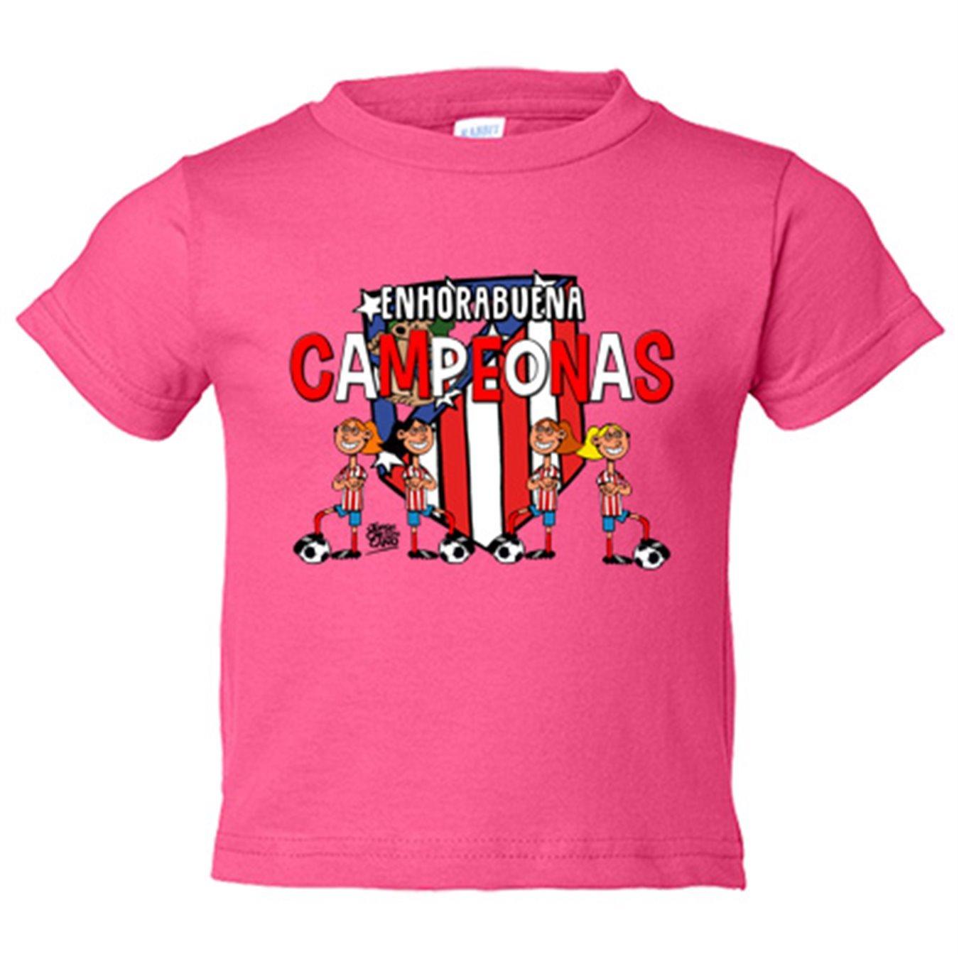 Camiseta niño Atlético de Madrid Féminas campeonas fútbol femenino - Amarillo, 3-4 años: Amazon.es: Bebé
