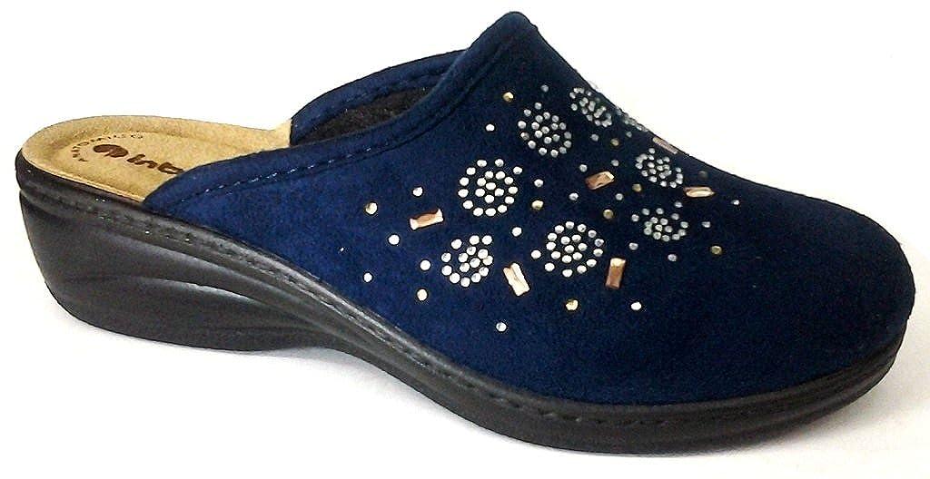 Inblu pantofole ciabatte invernali da donna art. LY-34 blu  -