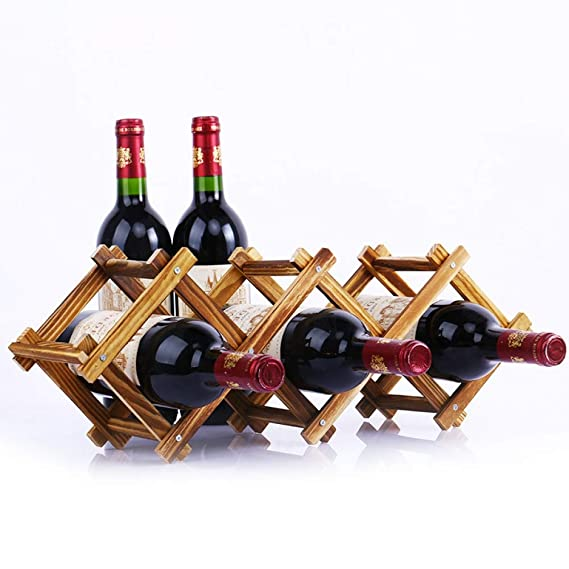 Wooden Red Wine Rack 5//6//10 Bottle Holder Mount Bar Display Shelf Folding Rack