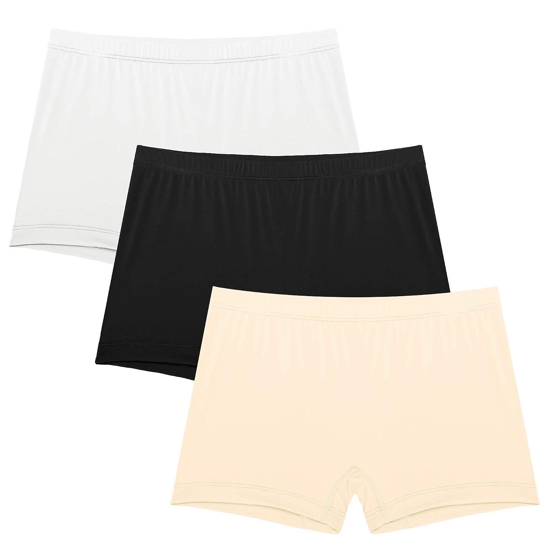 Goldenfox Womens Boyshort Panties Soft Invisible Hipster Briefs 3 Pack S-XXL