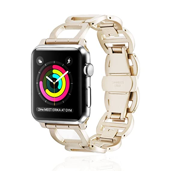 Apple Watch Banda Enlace Pulsera Repuesto Flexible Ajustable Reloj Banda de Acero Inoxidable de 38MM 42MM Apple Watch Deporte edición Serie 1 Serie 2 Serie ...
