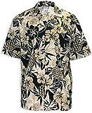 Two Palms Mens Pineapple Garden Cotton Shirt Black 3X