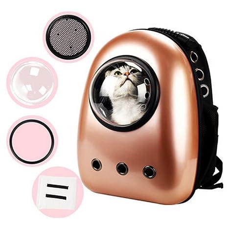 Mochila gato astronauta, vicoki transporte Mochila mascotas astronauta Cápsula Bubble bucksack para gatos de hasta