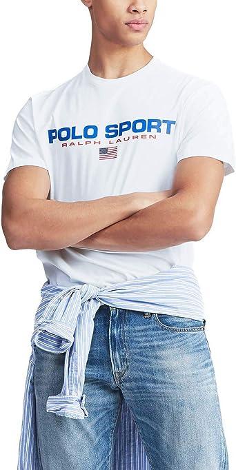 Camiseta Ralph Lauren Polo Sport Blanco Hombre: Amazon.es ...