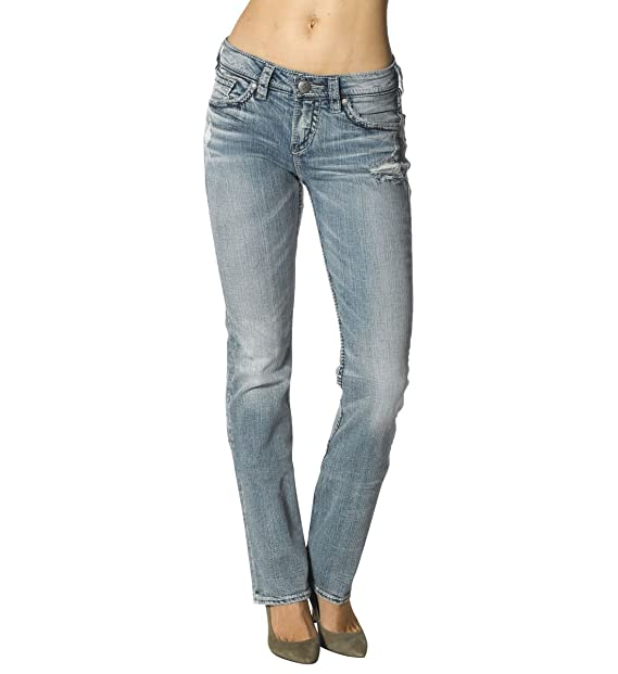 Silver Jeans Womens Suki High-Rise Baby Bootcut Jean