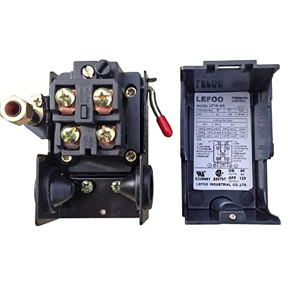 Amazon.com: PRESSURE SWITCH CONTROL AIR COMPRESSOR 140 - 175 1 PORT HEAVY DUTY 26 AMP: Home Improvement