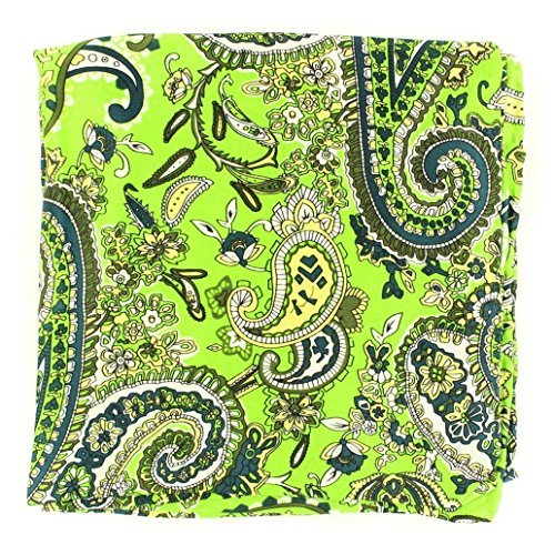 M&F M & F Western Men's Paisley Silk Wild Rag Lime One Size