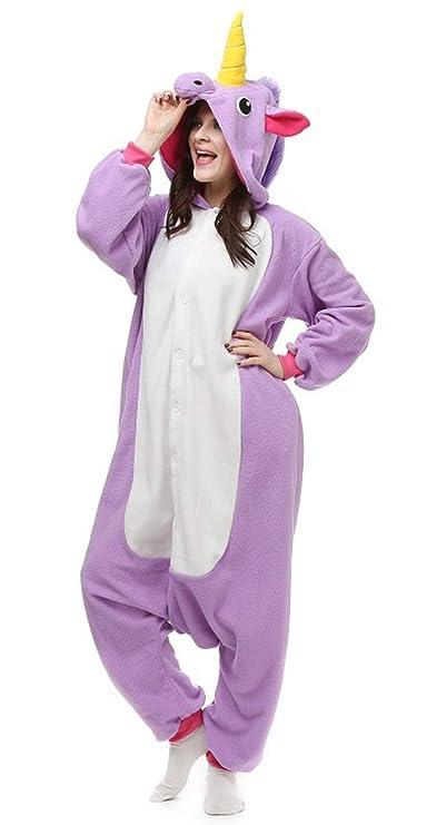 Unisex Animal Pijama Ropa de Dormir Cosplay Kigurumi Onesie Unicornio Púrpura Disfraz para Adulto Entre 1, 40 y 1, 87 m: Amazon.es: Ropa y accesorios