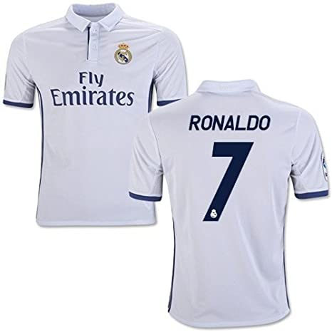 Ronaldo  7 Real Madrid Home Kids Soccer Jersey Kit with Free Shorts Youth  Sizes ( 614d2e5c5