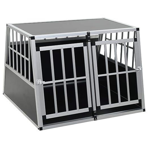 Festnight Jaula de Transporte para Perros de Aluminio con 2 ...