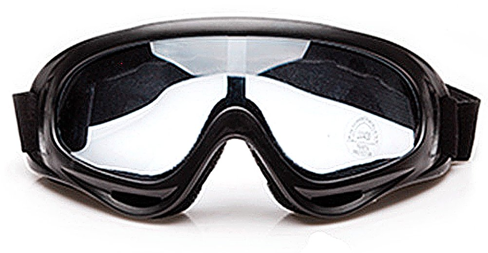 ANAM Snow Goggles Windproof UV400 Cycling Motorcycle Skiing Driving Goggles Eyewear Sports Safety Glasses (Transparent)
