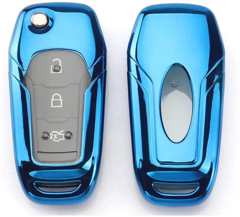 Royalfox TM 2//3 Buttons Leather flip Remote Key Fob case Cover for 2015 2016 2017 2018 Ford F150 F250,Focus 3 Escort Kuga Everest Fiesta Mustang Edge MKV S-MAX Fusion 2016 Ranger Leather Black