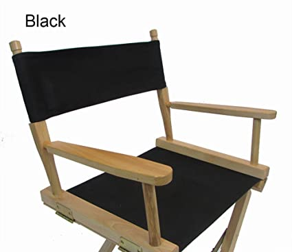 PERSONALIZED IMPRINTED Gold Medal Contemporary 30u0026quot; Bar Height Natural  Frame Directors Chair   Black