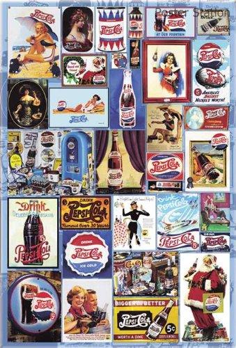 Pepsi - Collage de los años Póster de Coca Cola Ads a través ...
