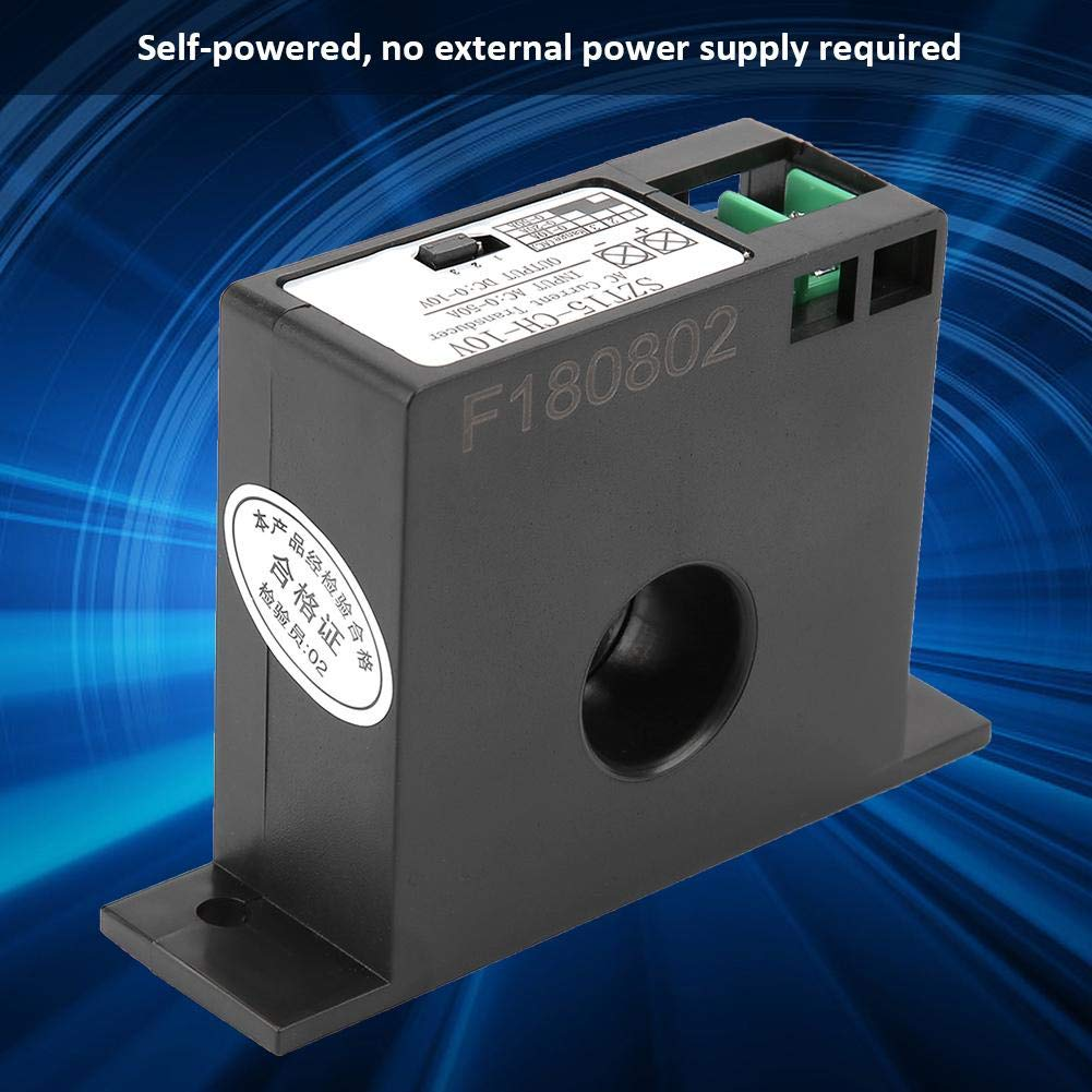 Liukouu Courant Alternatif Transducteur Transmetteur Inducteur AC 0-50A /à DC 0-10V SZT15-CH-10V