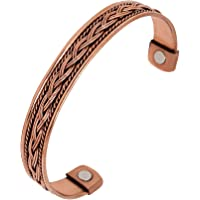 WC 100% Copper bracelet for women and men for arthritis pain, healing magnetic therapy kada, copper cuff bracelet…