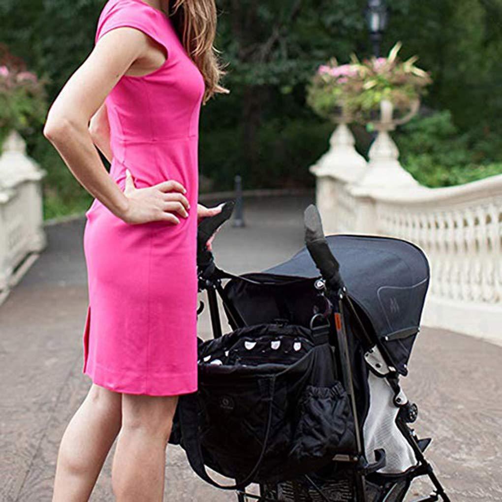 Busirde 2pcs Baby Stroller Armrest Black Cover Universal Elastic Handle Dustproof Protector Sleeve Pushchair Pram