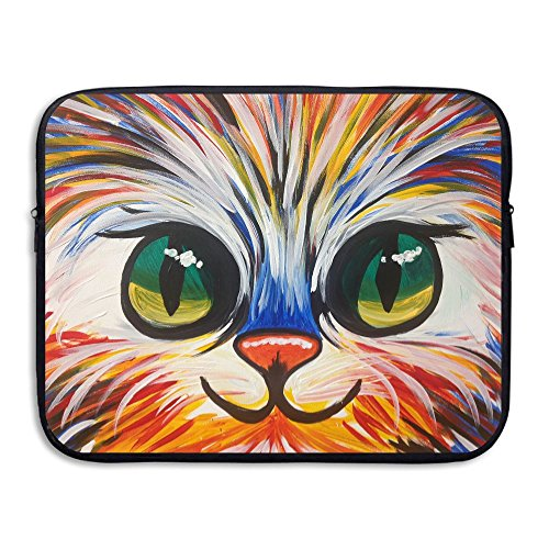 Waterproof Laptop Sleeve Pocket 15 Inch Macbook Air Pro Case Colorful Kitten Laptop Sleeve Bag Cover For Womens & Mens Computer Ultrabook (Skin Colorful Kittens)